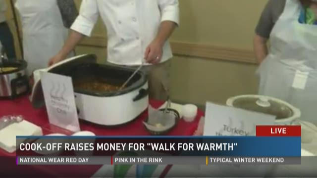 Cook-off raises money for 'Walk for Warmth'