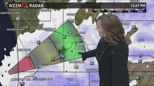 Friday afternoon forecast: light snow showers