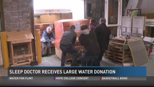 Sleep Doctor receives large water donation