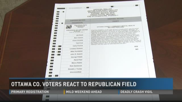 Ottawa Co. voters react to Republican field