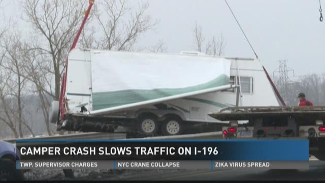 Crashed camper slowed I-196 traffic