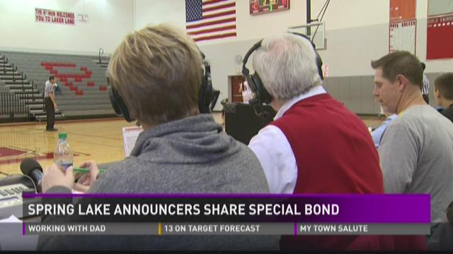 Spring Lake announcers share special bond