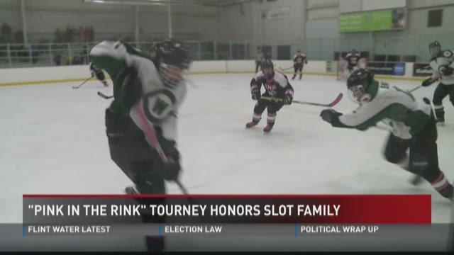Slot family honored at Pink in the Rink tourney