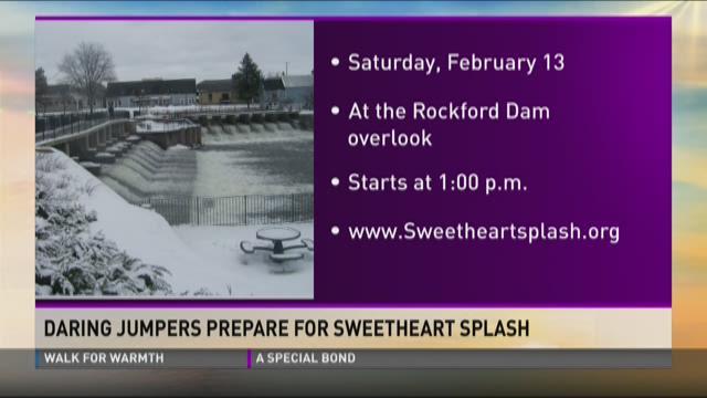 Daring jumpers prepare for sweetheart splash