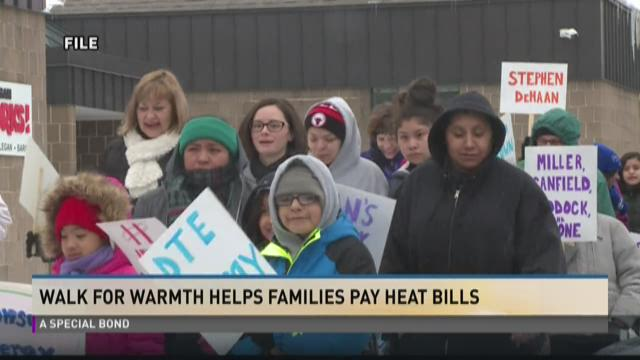 Walk for warmth helps families pay heat bills