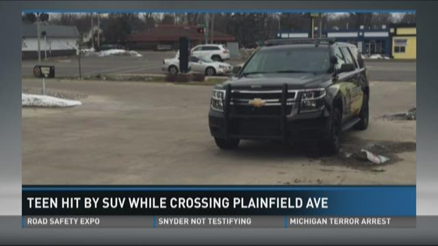Teen hit by SUV while crossing Plainfield Avenue