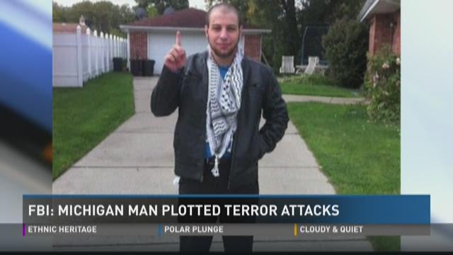 FBI: Michigan man plotted terror attacks