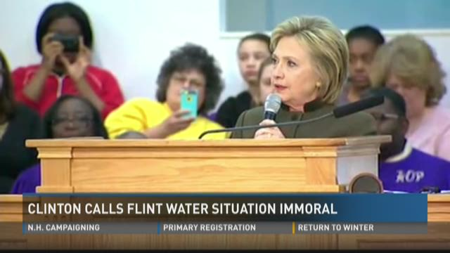 Clinton calls Flint water situation immoral