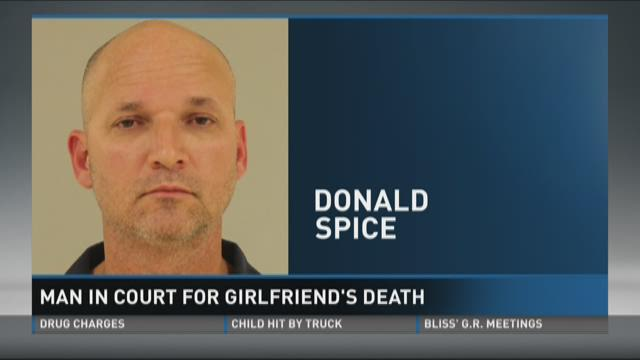 Donald Spice in court for girlfriend's death