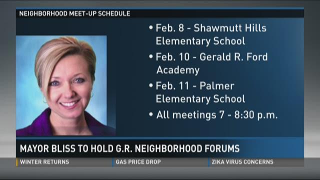 Mayor Rosalynn Bliss to hold Grand Rapids neighborhood forums