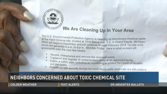 Neighbors concerned about Grand Rapids toxic chemical site