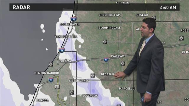 Tuesday Morning Forecast - Afternoon snow