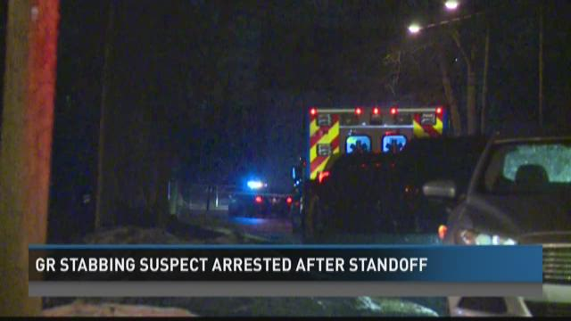 Grand Rapids stabbing suspect arrested after standoff