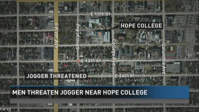 Men threaten jogger near Hope College