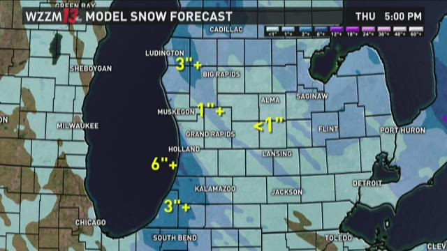 Winter storm warning: Where a half-foot of snow is possible