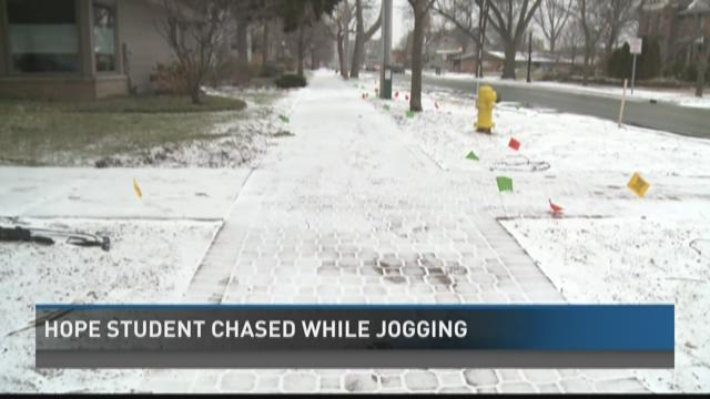 Hope College student chased while jogging