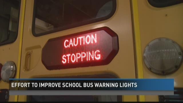 Lawmakers consider new effort to improve school bus warning lights