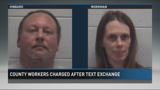 Muskegon County workers charged after text exchange