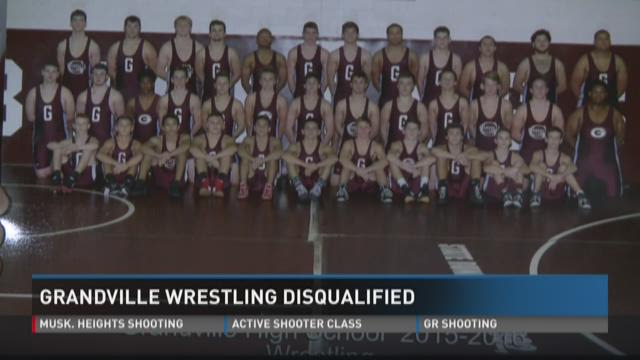 Grandville Wrestling team disqualified