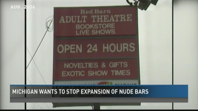 Michigan wants to stop expansion of nude bars