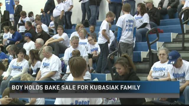 Ravenna basketball supports Kubasiak family