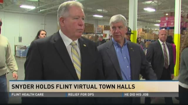 Gov. Snyder holds virtual town halls in Flint