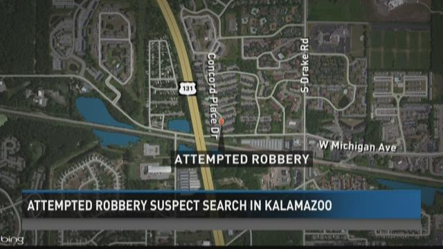 Attempted robbery suspect search in Kalamazoo