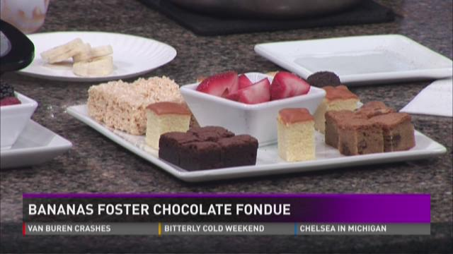 What's Cooking: Bananas foster chocolate fondue