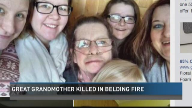 Great-grandmother killed in Belding fire