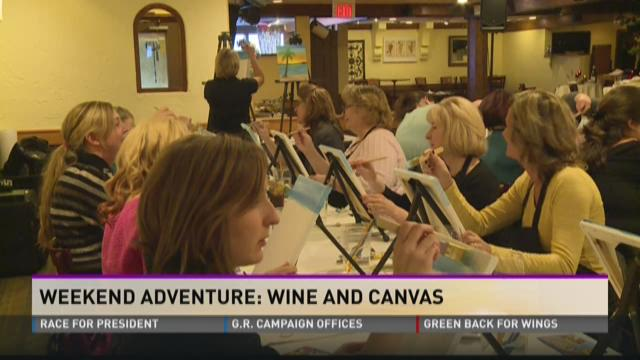 Weekend Adventure: Wine and Canvas