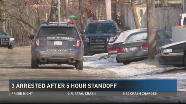 3 arrested after 5 hour standoff