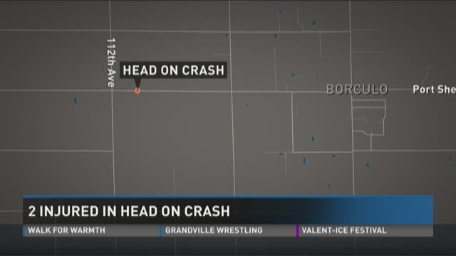 2 injured in head-on crash