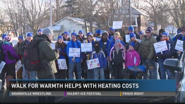 Walk for warmth helps with heating costs