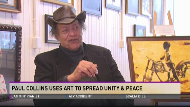 Paul Collins uses art to spread unity & peace