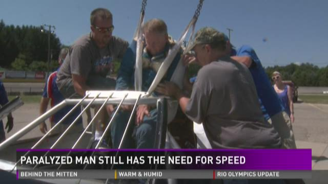 Paralyzed man finds a way to fill his, and others', 'need for speed'