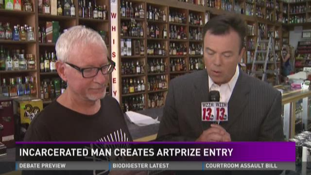 Toilet paper, water and soap are all he had - imprisoned man creates ArtPrize entry