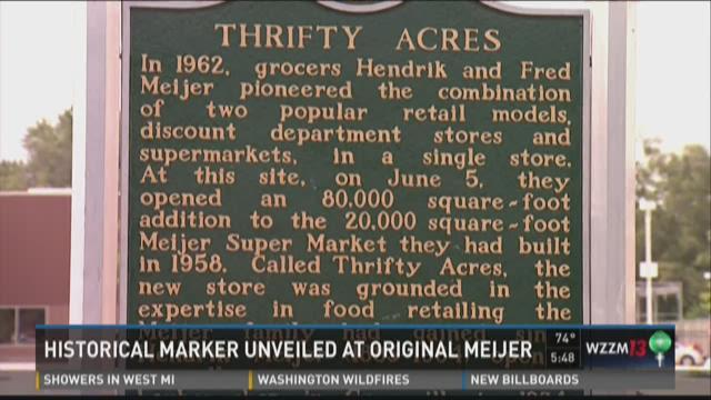Historical marker unveiled at original Meijer supercenter