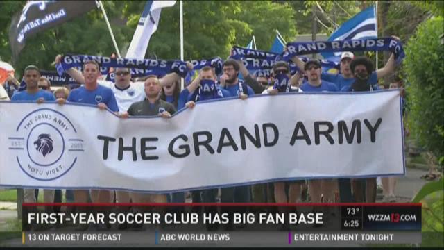 First-year soccer club has big fanbase