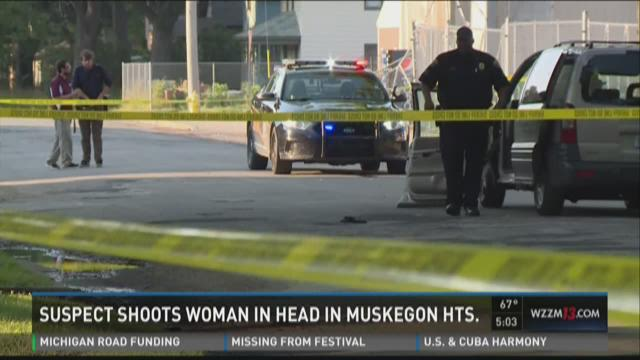 Woman in critical condition after being shot in the head