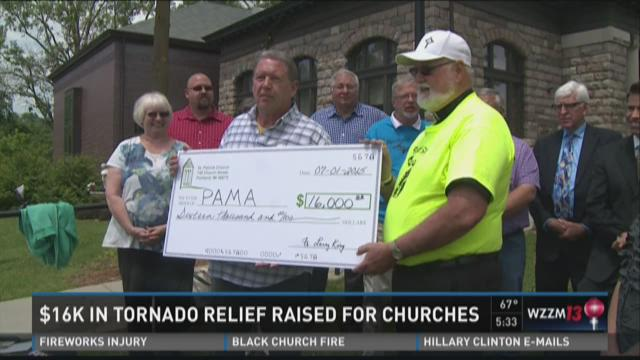 $16K in tornado relief raised for damaged Portland churches