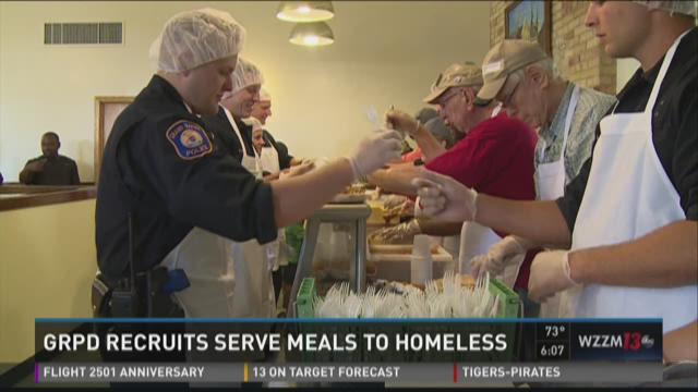 GRPD recruits serve meals to homeless, save choking man
