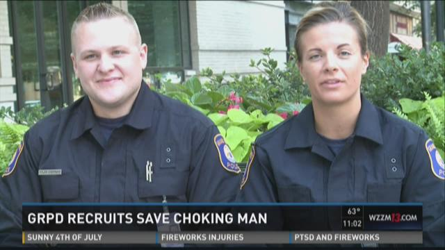 GRPD recruits serve lunch for homeless, save chocking man