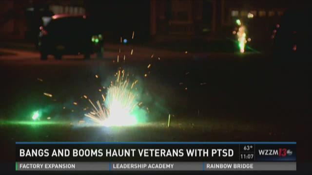 Fireworks, celebrations can trigger PTSD for some vets