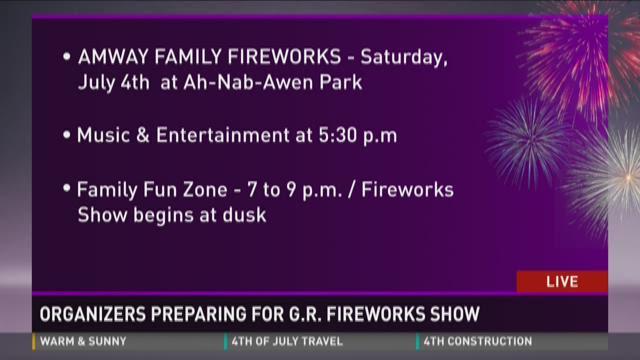 Organizers preparing for G.R. fireworks show