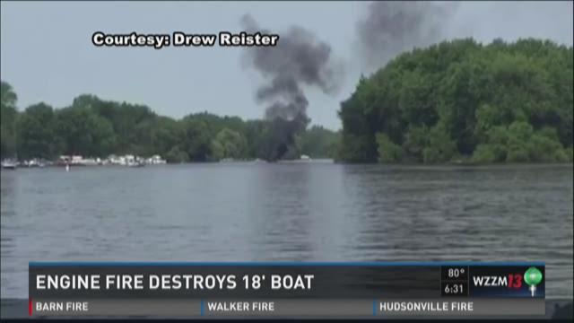 Engine fire destroys boat