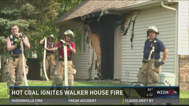 Hot coals ignite Walker house fire