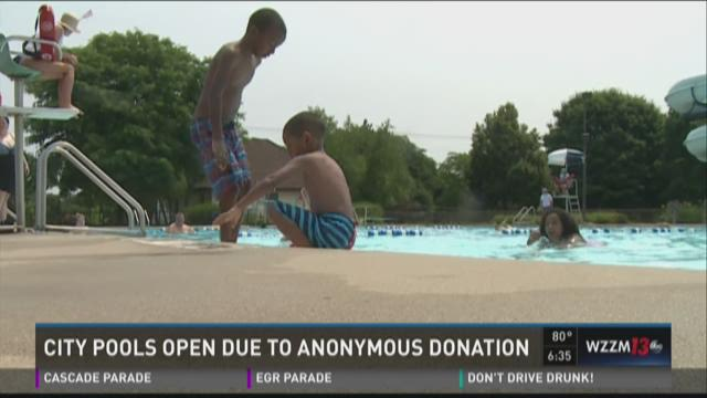 City pools open after anonymous donation