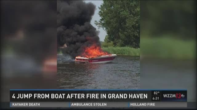 Grand Haven boat fire