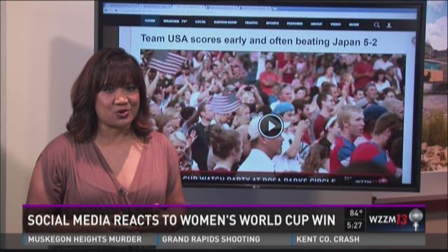 U.S. Women's World Cup win scores big on social media