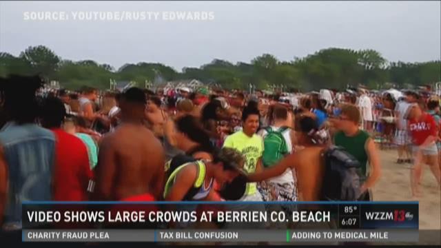 Five arrested at fireworks beach brawl